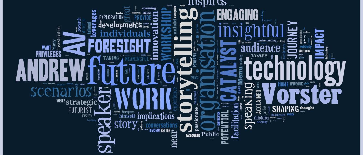 Andrew Vorster word cloud