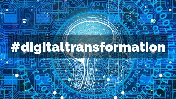 Image with words digital transformation